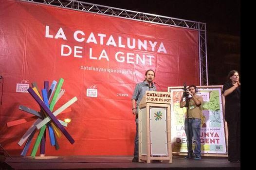 Pablo Iglesias vergangenem Montag in Barcelona